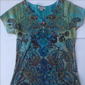 Vanity women's floral blouse
